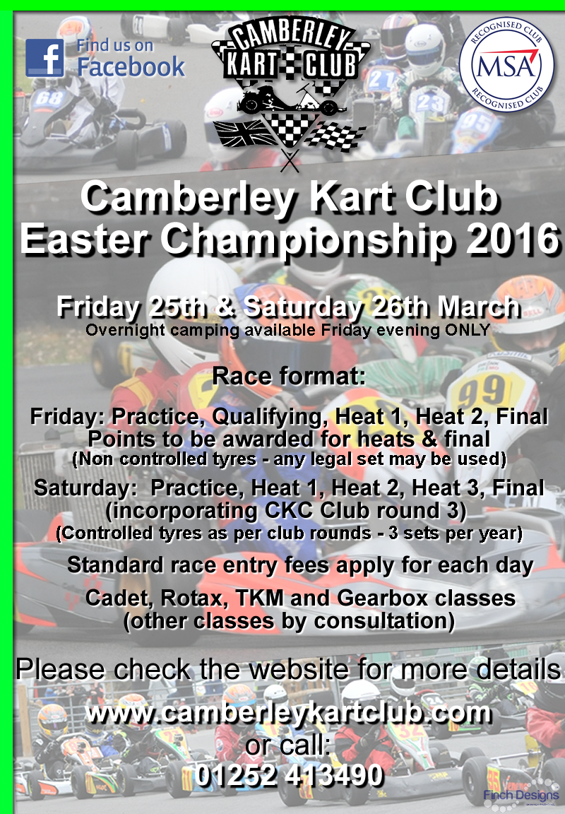 Camberley Easter Championship 2016