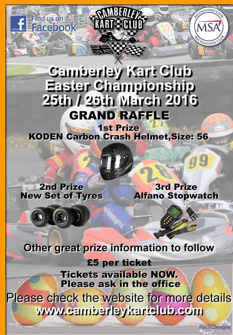 Camberley Easter Championship Raffle 2016